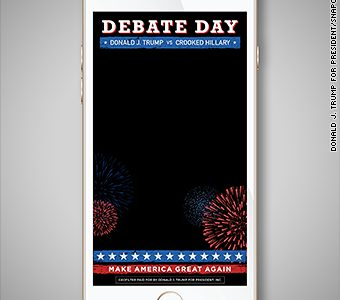 Presidential race takes over Snapchat