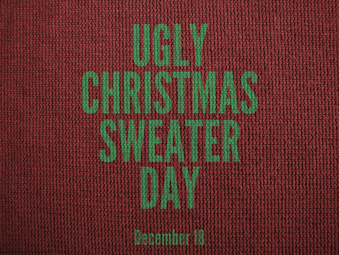 National Ugly Christmas Sweater day