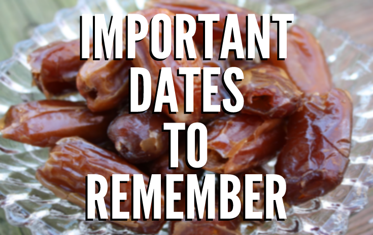 Important upcoming dates you should know