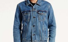 Alternate Text Not Supplied for classic medium-wash levi's trucker.